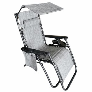 Leżak fotel ogrodowy z daszkiem składany + dodatki