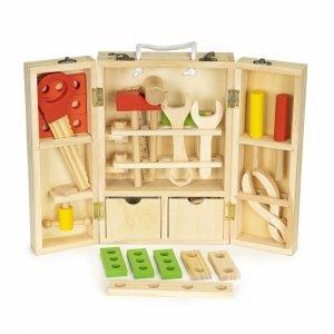 Drewniane narzędzia w skrzynce warsztat zestaw XXL Ecotoys