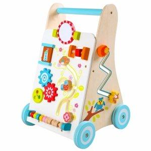 Drewniany chodzik pchacz wózek edukacyjny Ecotoys