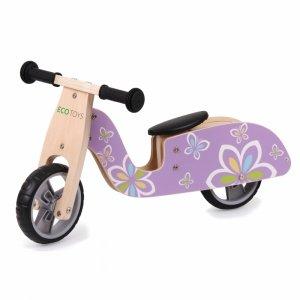 Drewniany rowerek biegowy balansowy skuter koła EVA Ecotoys