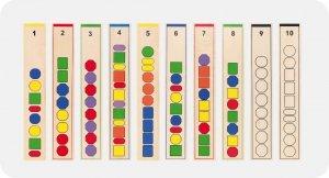 Drewniane logiczne koraliki - gra edukacyjna Viga