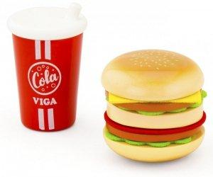 Drewniany zestaw Hamburger i Cola Viga