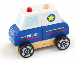 Drewniane klocki Auto Policyjne Viga