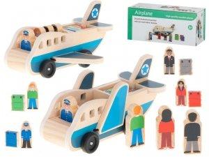 Samolot transporter drewniany walizki figurki