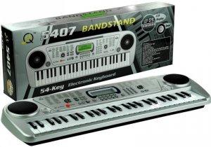 Keyboard Organy 54 Klawisze LCD Ładowarka