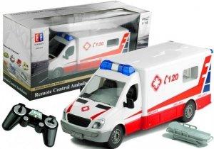 Ambulans Karetka Pogotowia RC Sterowana na Pilot 1:18