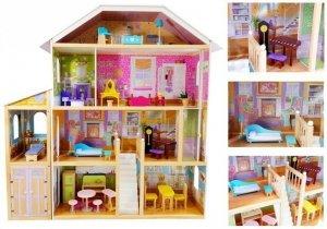Drewniany Domek dla lalek Villa Daria 123 cm