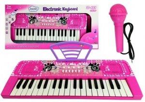 Keyboard Dziecięcy z Mikrofonem Różowy