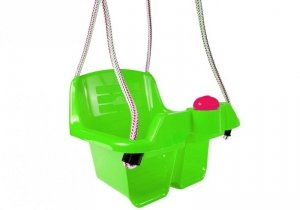 Huśtawka kubełkowa dla dzieci zielona