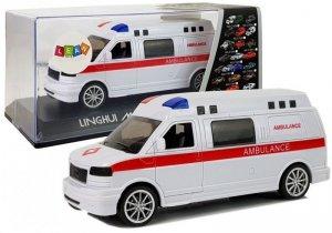 Ambulans Karetka Pogotowia z Napędem Dźwięk Syrena Światła