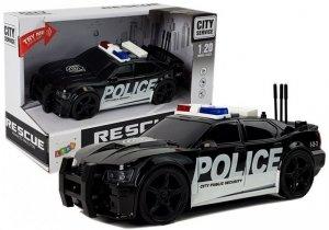 Auto Policja z naciągiem światła dźwięki 1:20