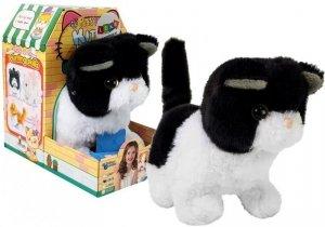 Interaktywny Kotek Czarno-Biały Chodzi Rusza Ogonem na Baterie
