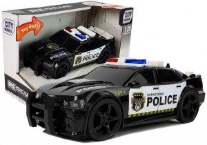Autko Policyjne 1:20 Napęd Frykcyjny Dźwięk Efekty Świetlne Czarne