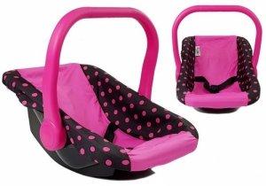 Nosidełko dla lalek Alice Czarno- Różowe