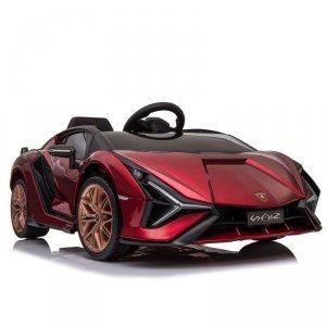 Auto Lamborghini Sian na akumulator, miękkie koła, miękkie siedzenie, lakier, 4x4, funkcja bujania - full opcja