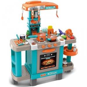 Kuchnia dla dzieci 37 elementów błękitna 78x29x87cm