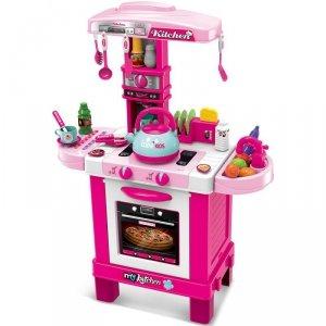 Kuchnia dla dzieci 32 elementy różowa 64x29x87cm