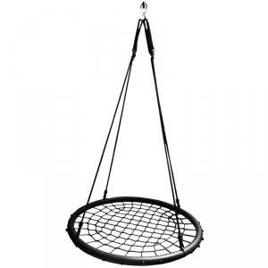 Huśtawka ogrodowa bocianie gniazdo 120cm sznurek czarny