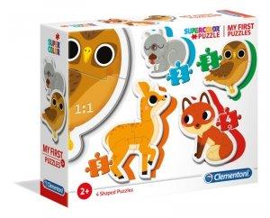 Pierwsze puzzle zwierzęta leśne Clementoni