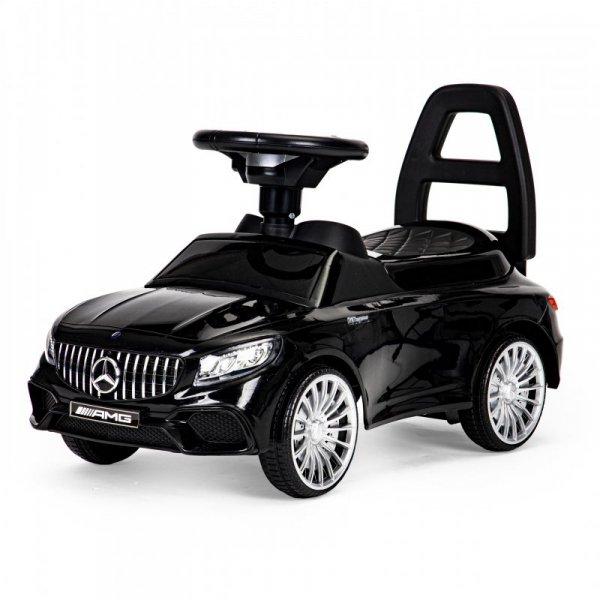Jeździk Mercedes AMG dźwięki LED - czarny