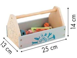 Drewniana skrzynka z narzędziami mini warsztat Ecotoys