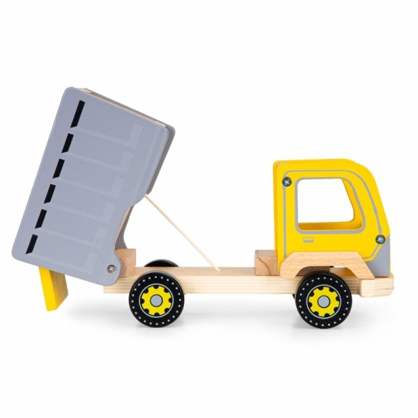 Drewniana wywrotka śmieciarka ciężarówka Ecotoys