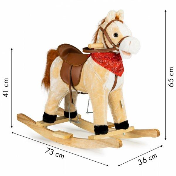Koń na biegunach ruchomy ogon i pysk dźwięki Ecotoys