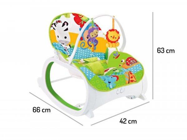 Leżaczek bujaczek fotelik 3w1 z wibracjami Ecotoys