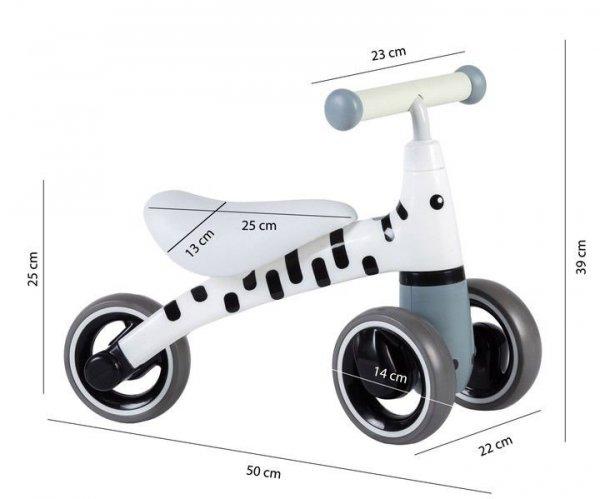 """Rowerek biegowy jeździk chodzik mini rower """"Zebra"""" Ecotoys"""