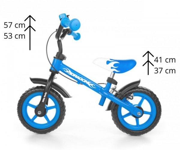 Rowerek biegowy Dragon z hamulcem blue Milly Mally