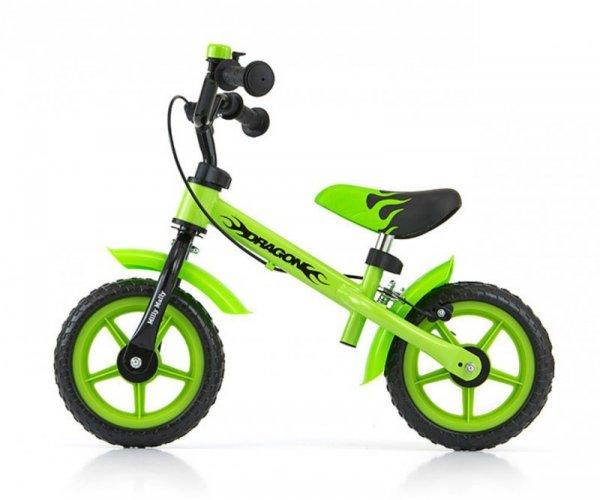 Rowerek biegowy Dragon z hamulcem green Milly Mally