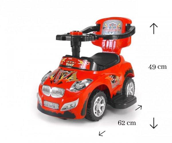 Jeździk 3w1 Pojazd Happy Red Milly Mally