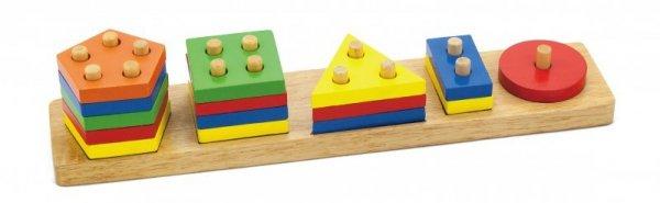 Klocki z sorterem kształtów - figury geometryczne Viga