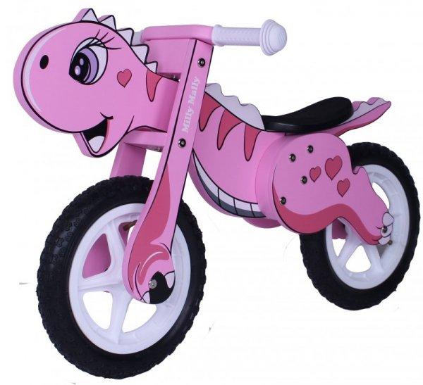 Rowerek Biegowy Dino Pink Milly Mally