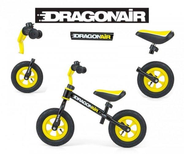Rowerek Biegowy Dragon Air Black Milly Mally