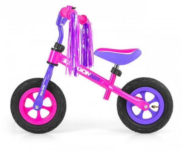 Rowerek Biegowy Dragon Air Pink Milly Mally