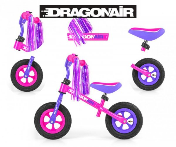 Rowerek Biegowy Dragon Air Pink Milly Mally