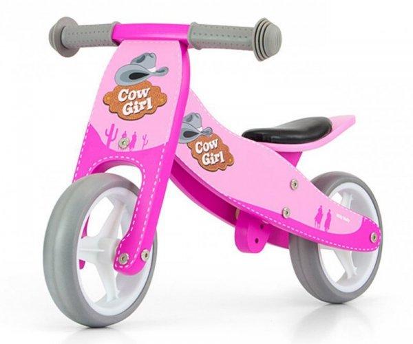 Rowerek biegowy Jake Pink Cowgirl Milly Mally