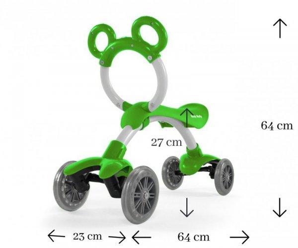 Rowerek biegowy jeździk  Orion Flash Green Milly Mally