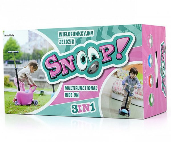 Hulajnoga/Jeździk SNOOP! 3w1 PINK Milly Mally