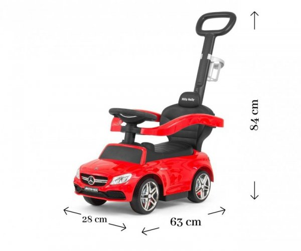 Jeździk pchacz MERCEDES-AMG C63 Coupe Red Milly Mally
