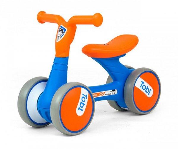 Jeździk rowerek biegowy Tobi Blue-Orange Milly Mally