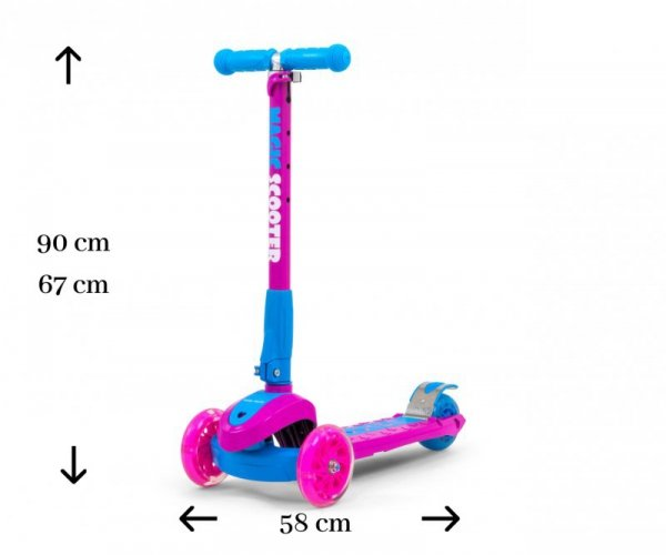 Hulajnoga Scooter Magic Pink-Blue Milly Mally