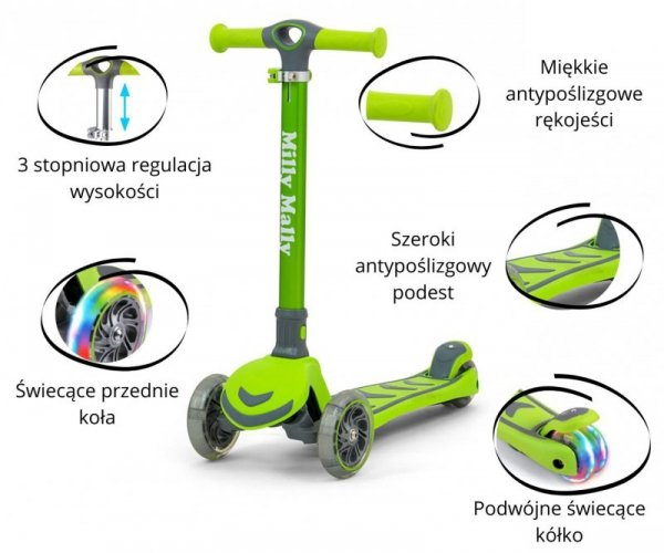 Hulajnoga Scooter Boogie Green Milly Mally