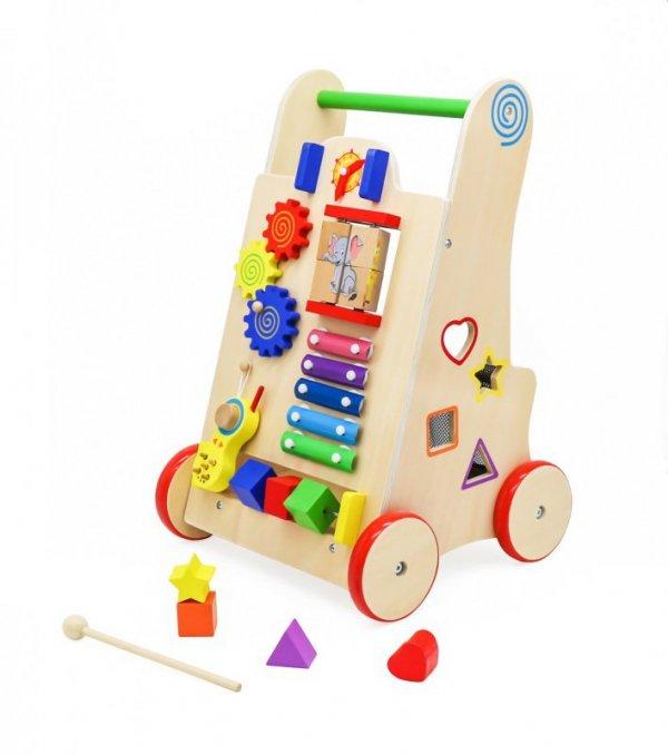 Pchacz  chodzik drewniany kostka edukacyjna 6w1