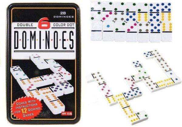 Gra Logiczna Domino Metalowe Opakowanie 28 Element