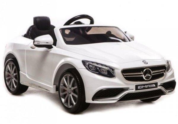 Auto na akumulator Mercedes S63 AMG Pilot Biały