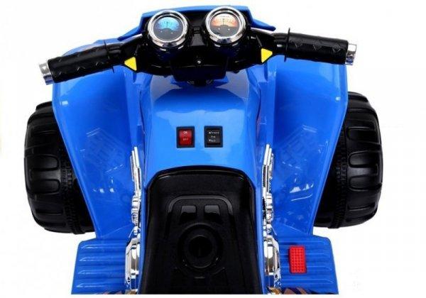 Quad na akumulator Duże Koła Niebieski