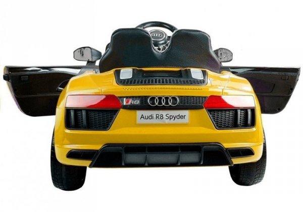 Auto na akumulator Audi R8 Spyder Żółty