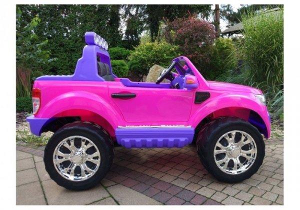 Auto na Akumulator Ford Różowy 4x4 Koła EVA Radio